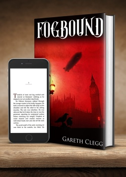 Fogbound cover with iPhone